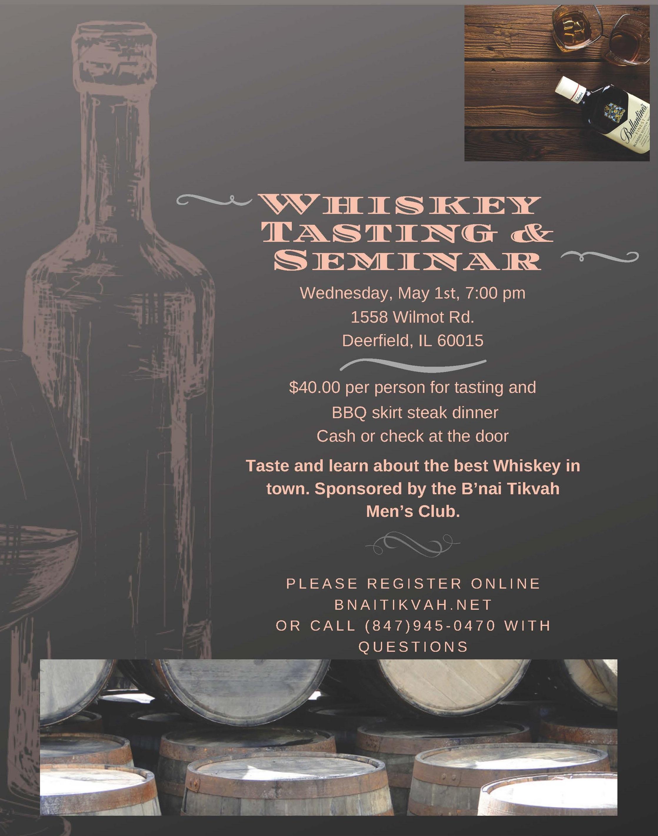Whiskey Tasting and Seminar