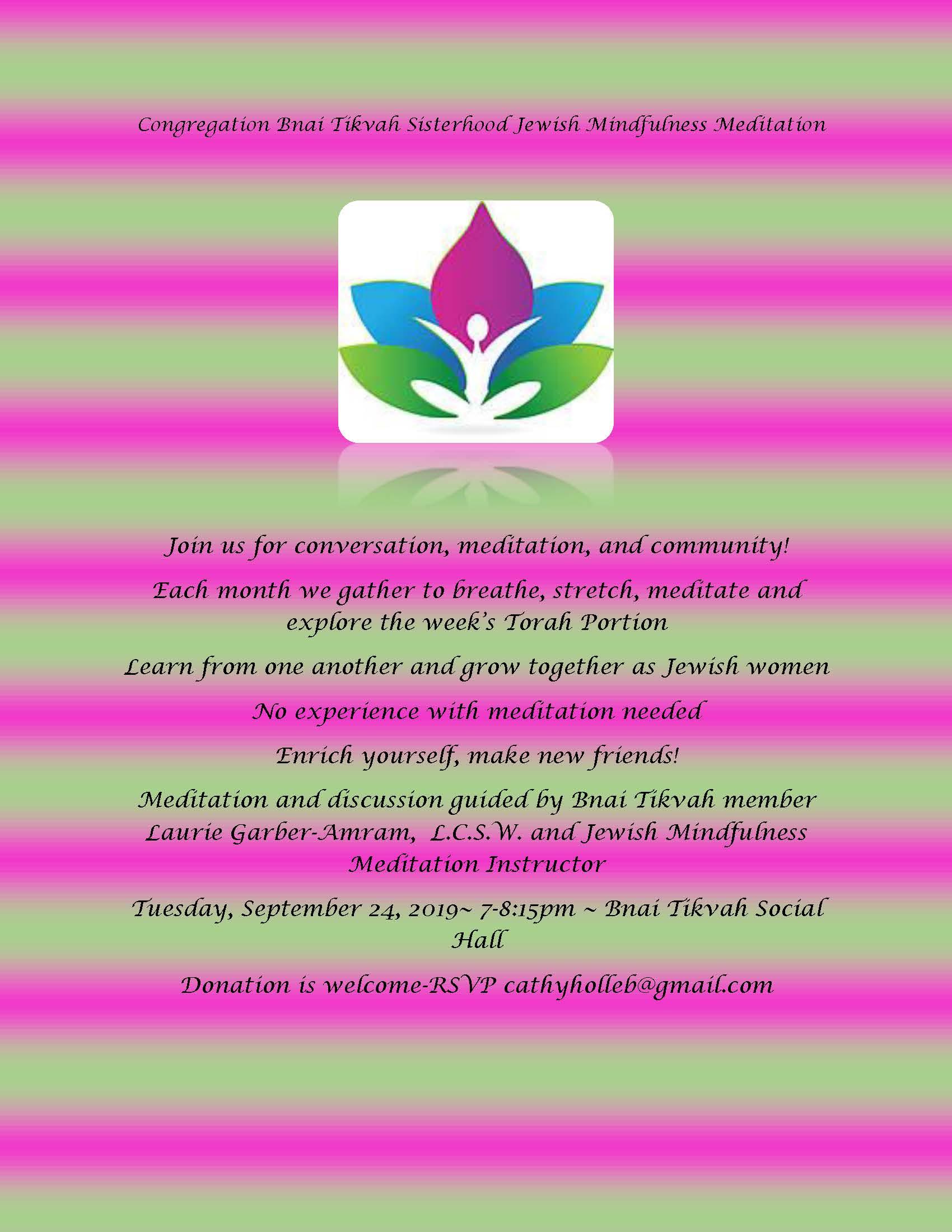 Sisterhood Jewish Mindfulness Meditation