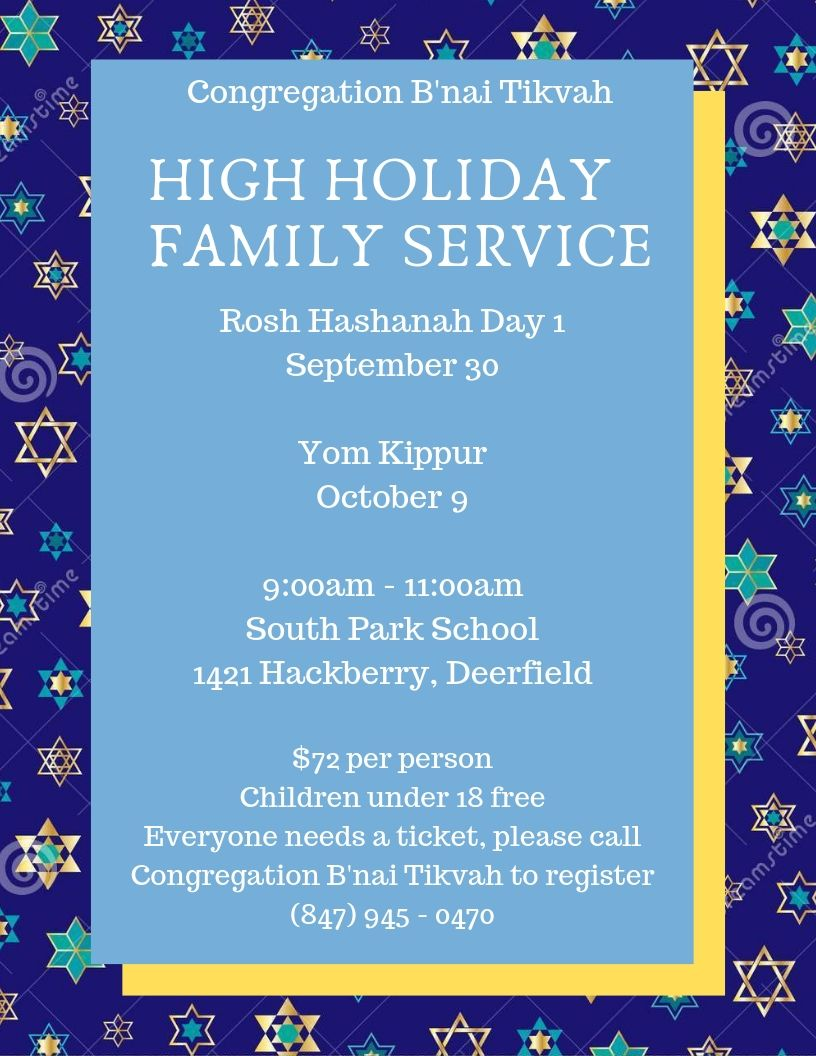 High Holiday Family Service