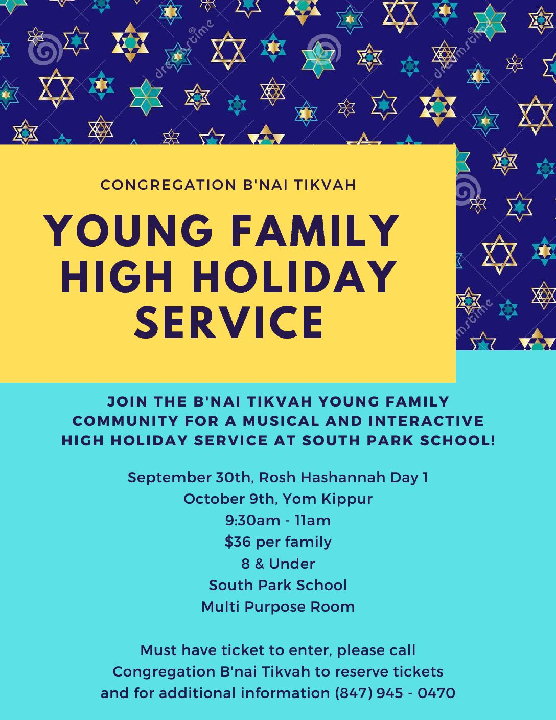 High Holiday Young Family Service