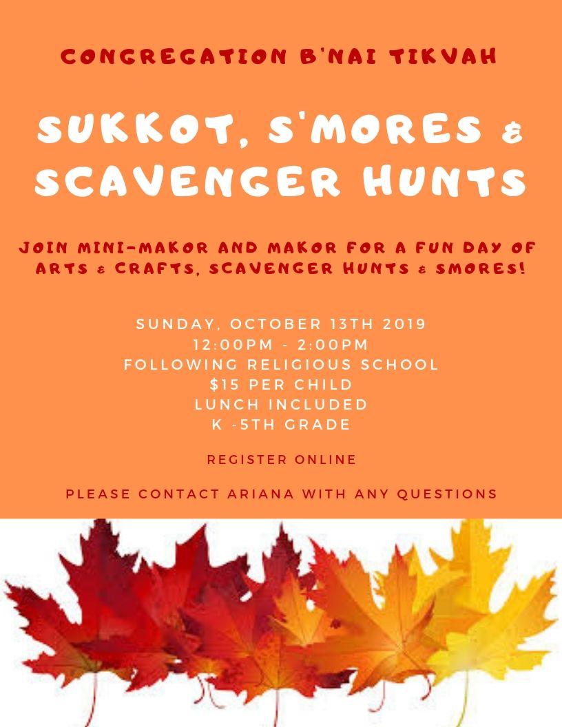 Sukkot, S'mores & Scavenger Hunts