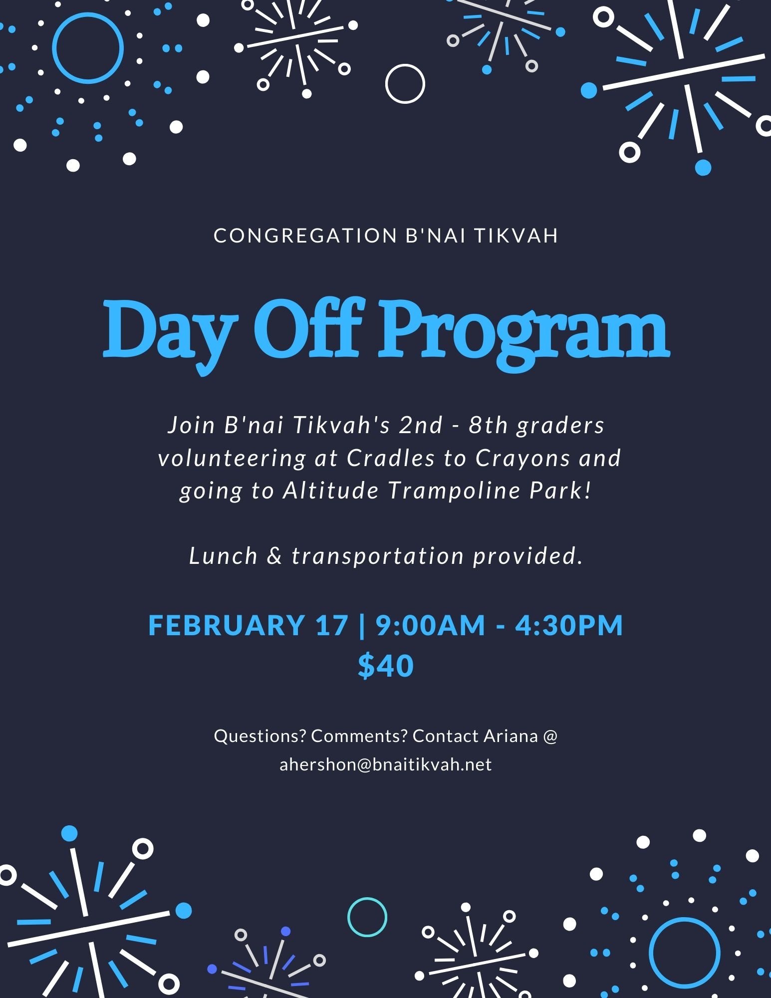 President's Day Off Program